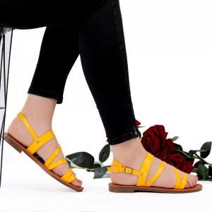 Sandale cu talpă joasă cod M42 Yellow