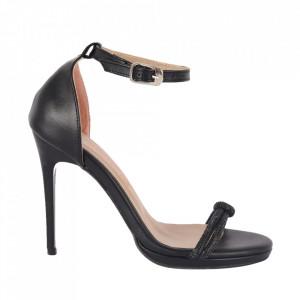 Sandale din piele ecologică cod RS01 Black