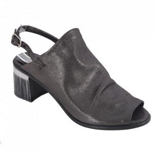 Sandale din piele naturală cod 051 Black Silver