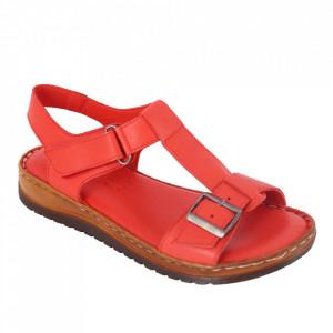Sandale din piele naturală cod 48 Kirmizi