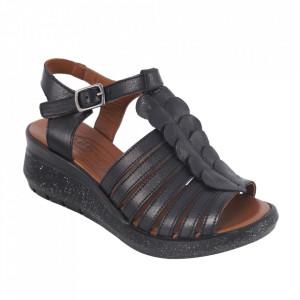 Sandale din piele naturală cod 657 Black