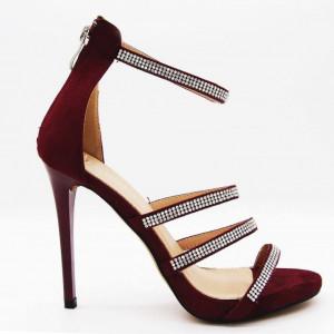 Sandale Glamy Vişinii