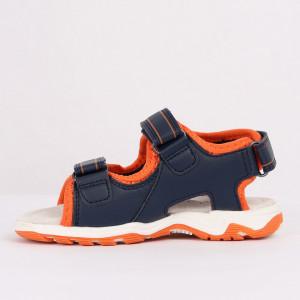 Sandale pentru băieți cod CP62 Portocali - Sandale pentru băieți cu talpă din piele naturală - Deppo.ro