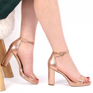 Sandale pentru dame cod 6156 Champagne