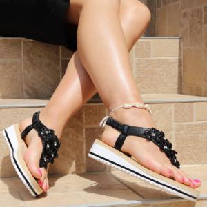 Sandale pentru dame cod B77 Black