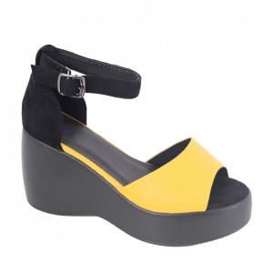 Sandale pentru dame cod X01 Yellow/Black