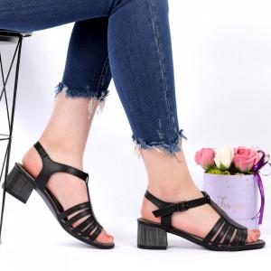 Sandale pentru dame din piele naturală cod CS02 Black