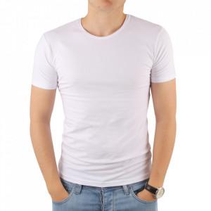 Tricou pentru bărbați cod 4101 Beyaz