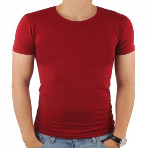 Tricou pentru bărbați cod 4101 Bordo