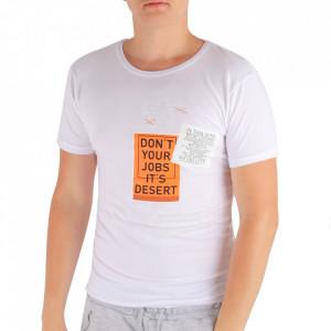 Tricou pentru bărbați Cod LG89 TRR2 White