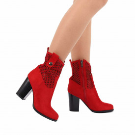 Botine cod LMN257 Red