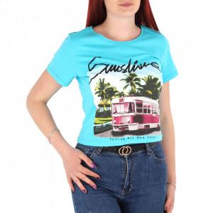 Tricou pentru dame cod C-2495 Blue
