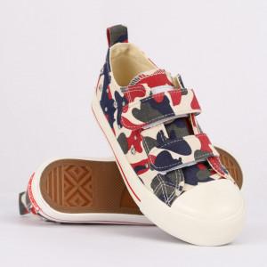 Sneakers pentru băieți cod HT889 Roșu Camuflaj
