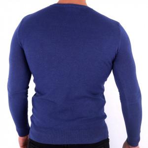 Bluză Damien Azure - Bluza simplă este cel mai versatil articol vestimentar din sezonul rece, o piesă cu reputaţie a stilului casual având compoziţia 78% Viscoză şi 22% Elastan - Deppo.ro