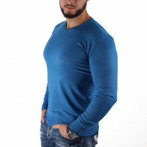 Bluză Felix Blue - Bluza simplă este cel mai versatil articol vestimentar din sezonul rece, o piesă cu reputaţie a stilului casual având compoziţia 50% Viscoză 28% PPTşi 22% Elastan - Deppo.ro
