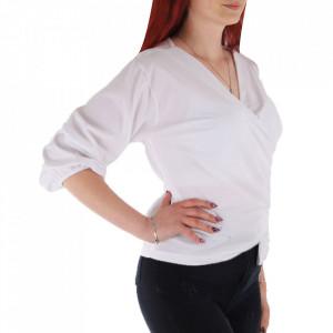 Bluză pentru dame cod CC89 White - Bluză pentru dame Conferă o ținută lejeră de vară - Deppo.ro