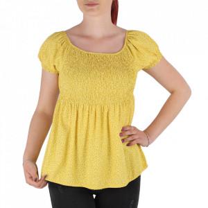 Bluză pentru dame tip cămășuță cod 31065 Yellow