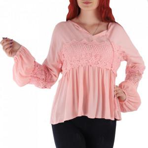 Bluză pentru dame tip cămășuță cod 8721 Pink