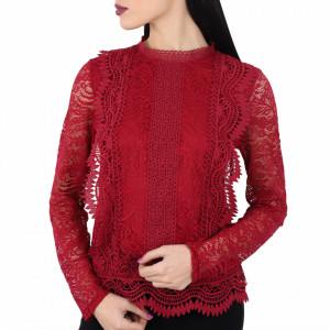 Bluză Skye VISINIU - Bluză elegantă, brodată Cu un model deosebit de frumos! Potrivită pentru dame! Compozitie 100% polyester - Deppo.ro