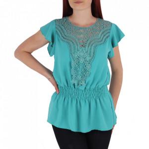 Bluză tip cămășuță pentru dame cod BP98 Blue
