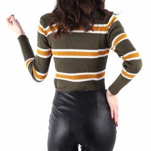 Bluză Tresa Kale - Bluză pentru dame clasică cu mânecă lungă și decor în dungi dintr-un material confortabil perfectă pentru sezonul rece - Deppo.ro
