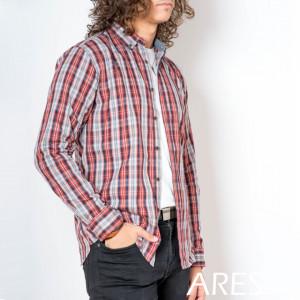 Cămaşă casual cu mânecă lungă cod ARS77 ROSU - Camasa pentru barbati cu maneca lunga croiala confort fit. O camasa potrivita atat pentru o zi la birou, cat si pentru o iesire in oras cu prietenii. - Deppo.ro