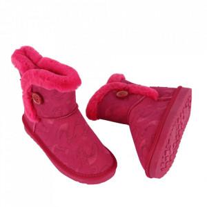 Cizme pentru fete cod N223 Fuchsia - Cizme din piele ecologică de înaltă calitate cu înterior îmblănit, foarte confortabil cu un calapod comod - Deppo.ro