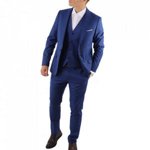 Costum slim fit 01 Albastru