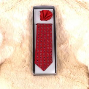 Cravată roșie cu cercuri