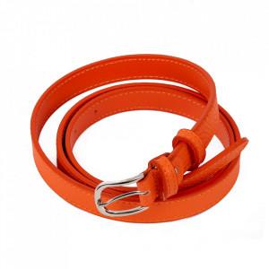 Curea din piele naturală portocalie pentru dame C010 - Curea din piele naturală pentru dame ideală de asortat la o tinuta sport-casual - Deppo.ro