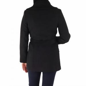 Palton Caris Black - Palton elegant cu închidere cu capse şi cordon, căptușit pe interior. Îmbracă-l la rochii sau ținute office și asortează-l cu o pereche de mănuși din piele pentru un plus de eleganță. - Deppo.ro