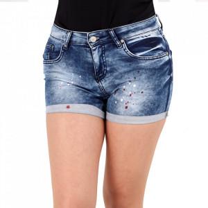 Pantaloni scurți pentru dame cod 06840 Blue