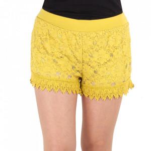 Pantaloni scurți pentru dame cod I23149 Yellow