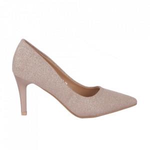 Pantofi cu toc 920-18 Champagne