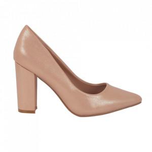 Pantofi cu toc 920-19F Champagne
