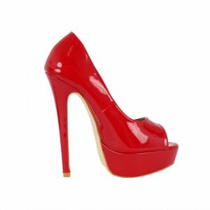 Pantofi Cu Toc Arabella Red - Pantofi roşii cu toc și platformă foarte înalte pentru dame care vă pot completa o ținută fresh în acest sezon. Incalțî-te cu această pereche de pantofi la modă și asorteaz-o cu pantalonii sau fusta preferată pentru a creea o ținută deosebită. - Deppo.ro