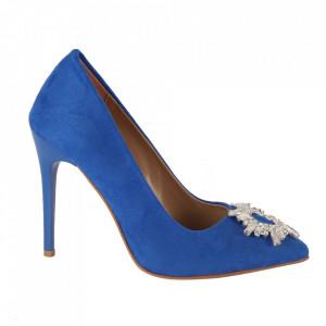 Pantofi cu toc cod 5596 Blue