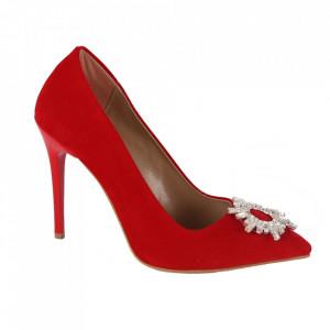 Pantofi cu toc cod 5596 Red