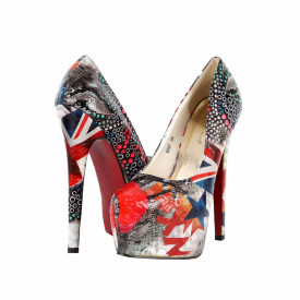 Pantofi cu toc cod 8067 Lps
