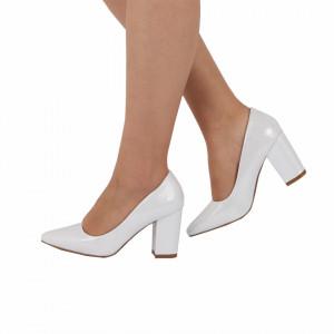 Pantofi cu toc cod 92021H Arginti