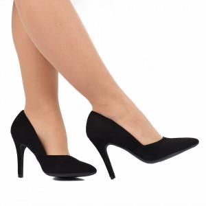 Pantofi cu toc cod A55055 Negri