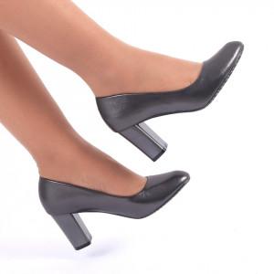 Pantofi cu toc cod CA82 Gri Închis
