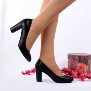 Pantofi cu toc cod EK0010 Negri