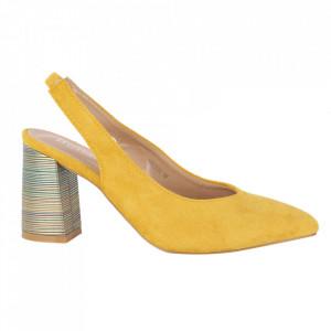 Pantofi cu toc cod OD0220 Yellow