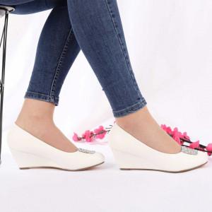 Pantofi Cu Toc cod SA1708 White