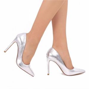 Pantofi cu toc cod SH728 Arginti