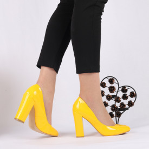 Pantofi Cu Toc Desiree Yellow
