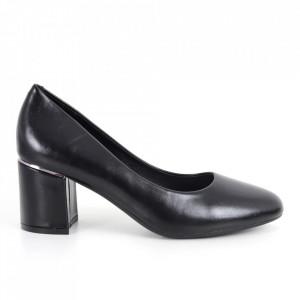 Pantofi cu toc din piele ecologică cod C-101 Black
