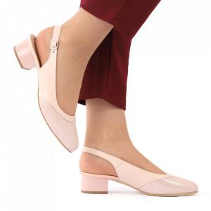 Pantofi cu toc din piele naturală cod 1076 Fdt - Pantofi cu toc din piele naturală moale  Acești pantofi vă conferă lejeritate și elegantă  Închidere prin baretă - Deppo.ro