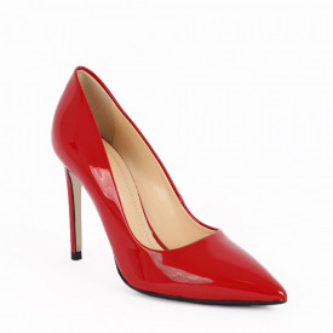 Pantofi cu toc din piele naturală cod 4332 Red - Pantofi cu toc din piele naturală  Acești pantofi vă conferă lejeritate și eleganță - Deppo.ro